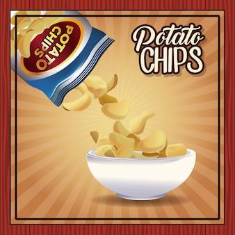 Potato chips frame