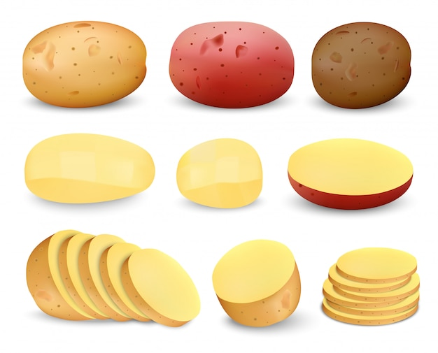 Potato fried mockup set