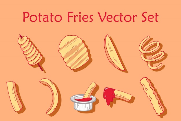 Potato fries set