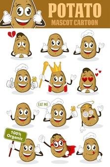 ベクトルのジャガイモのマスコット漫画 Premiumベクター