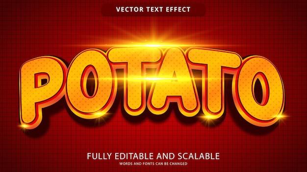 Potato text effect editable eps file