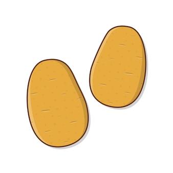 감자 벡터 아이콘 그림입니다. 야채 감자 플랫 아이콘