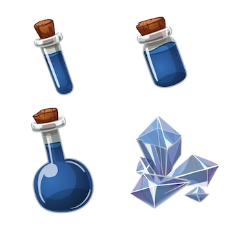 Potion and crystal