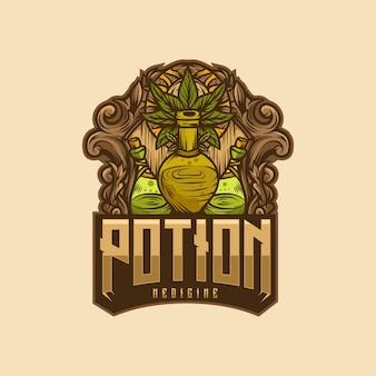 Potion medicine logo