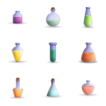 Potion set, cartoon style