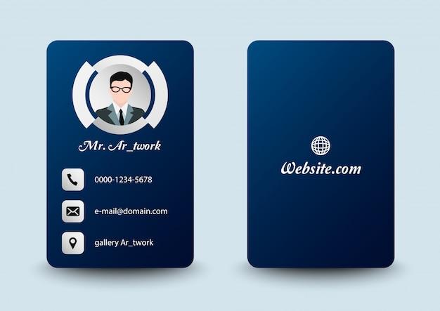 Potrait business card