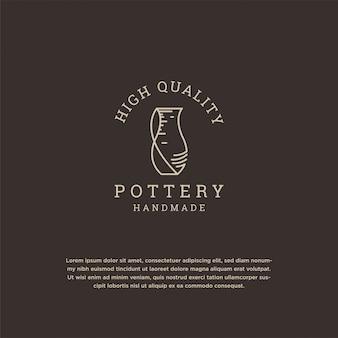 Pottery logo design template