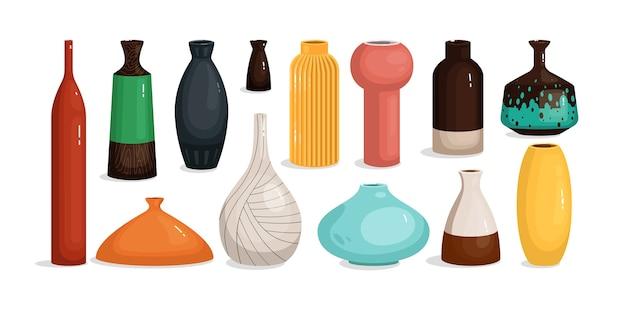 Керамическая ваза для цветочного украшения интерьера дома