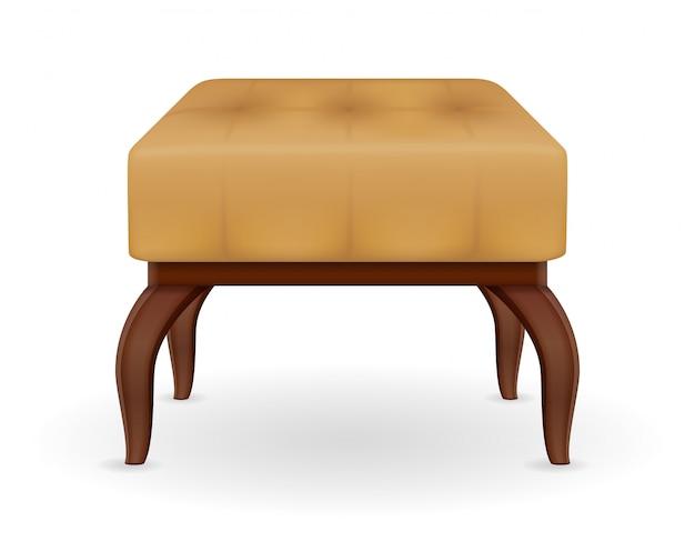 Pouf furniture vector illustration