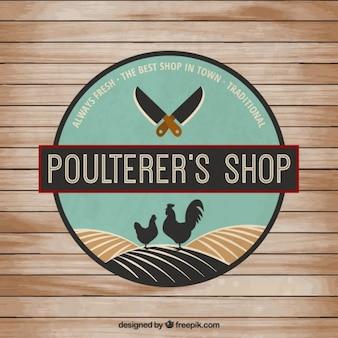 Poultererの店のバッジ