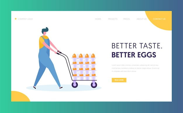 Poultry farm worker landing page template