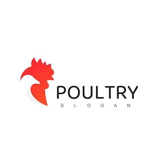 Poultry logo, animal farm company icon with hen symbol