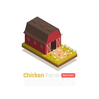 Pollame che alza illustrazione tradizionale dell'azienda agricola del sistema del granaio
