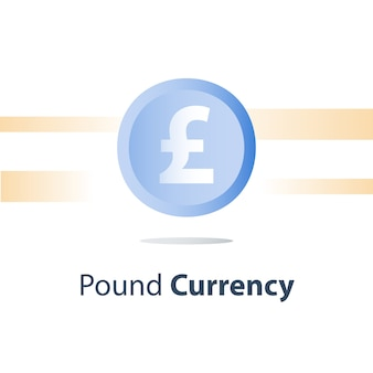Pound currency coin illustration