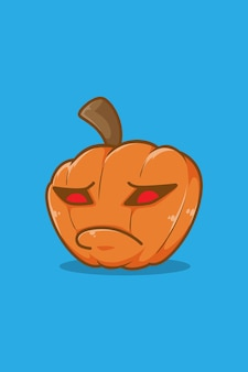 Надувание хэллоуина тыква иллюстрации шаржа