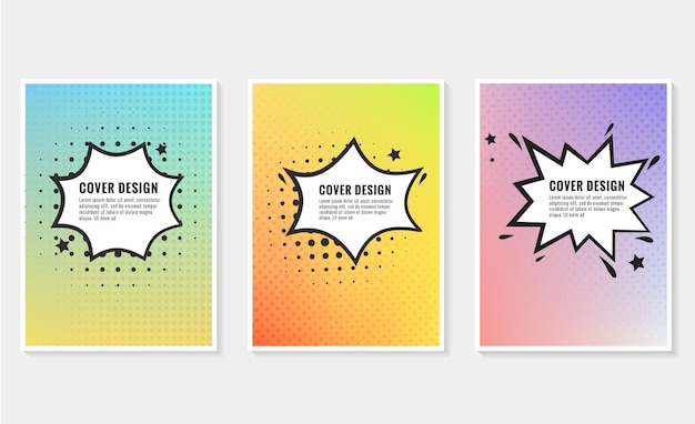 Pow colorful speech bubble and explosions in pop art style elements of design comic books