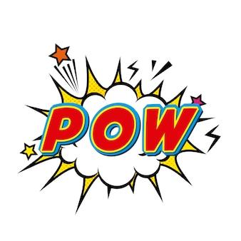 Pow comic pop art style