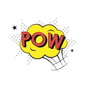 Pow comic style