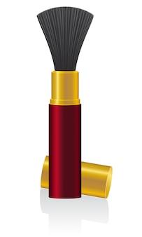 Powder brush vector illustration