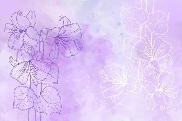 Powder pastel background with hand drawn elements