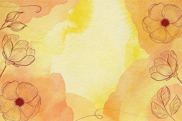 the most downloaded yellow watercolor flower images from august freepik