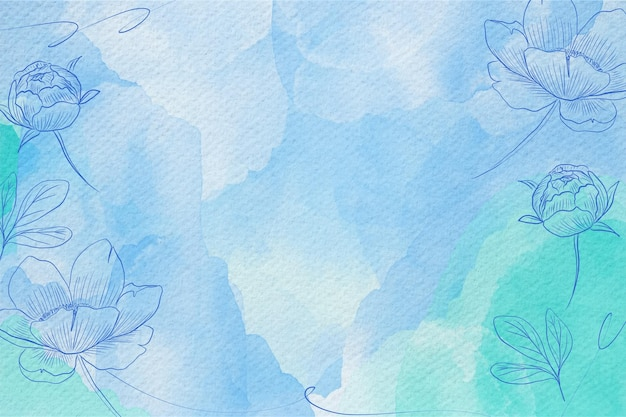 パウダーパステル水彩背景デザイン