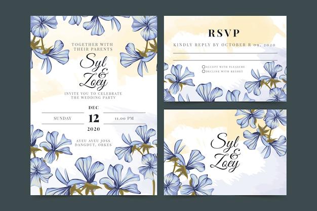 Powder pastel wedding stationery template