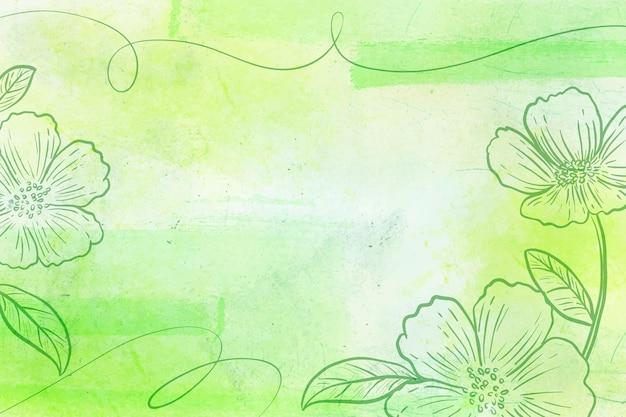 Powder pastel with hand drawn elements background