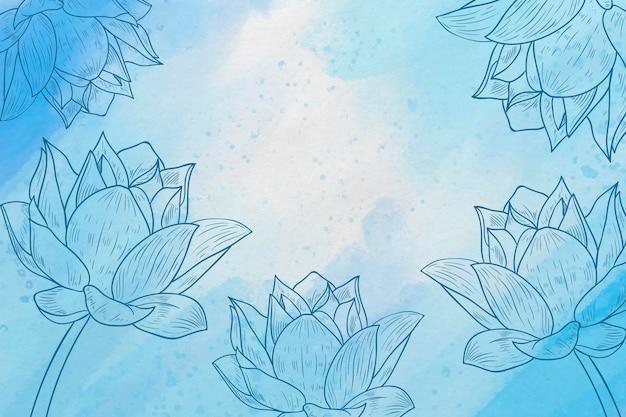 Порошок пастель с рисованной элементов фона