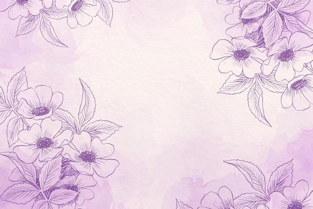 手描きの要素の背景を持つパウダーパステル