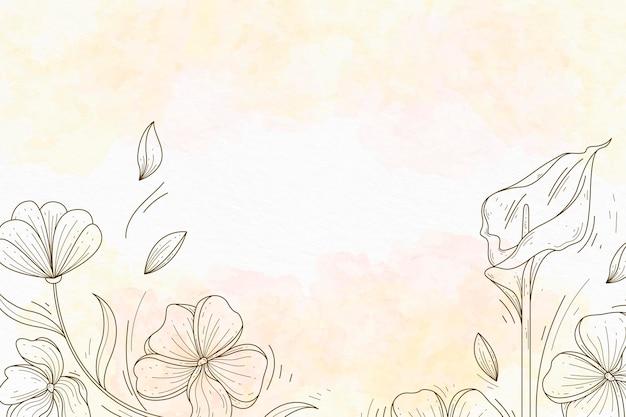 手描きの要素の壁紙とパウダーパステル