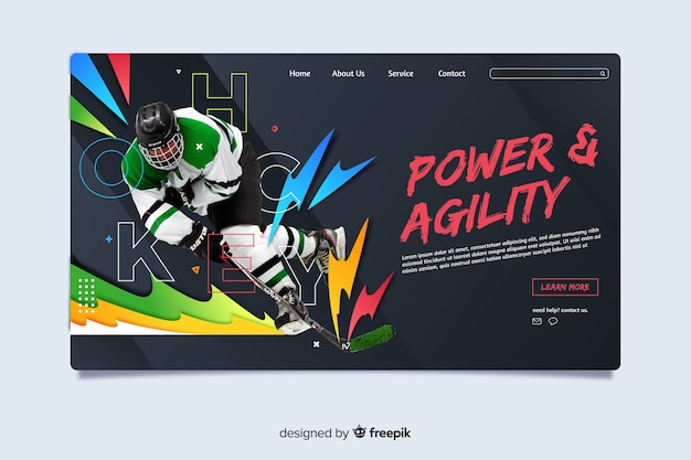 Power and agility sport landing page