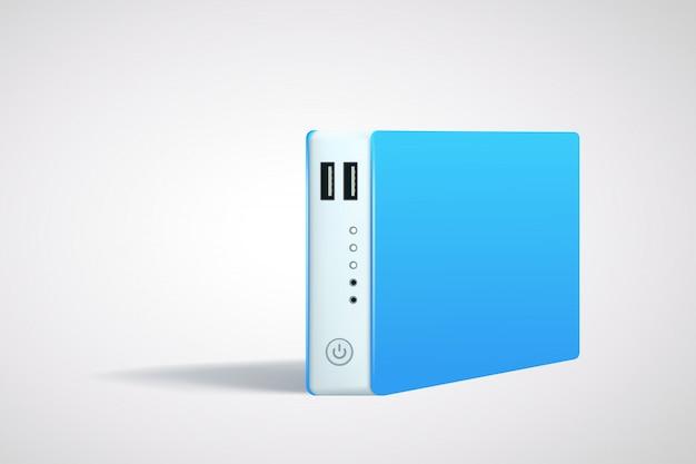 Power bank синий