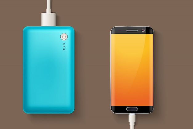 Power bank and phone