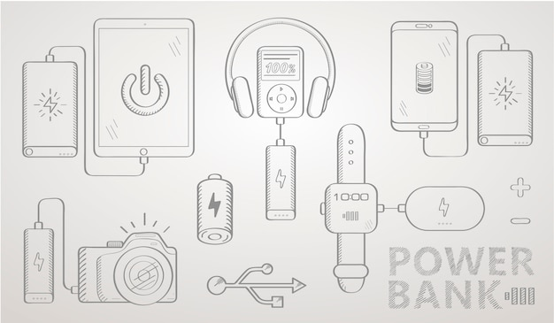 Power bank sketch set