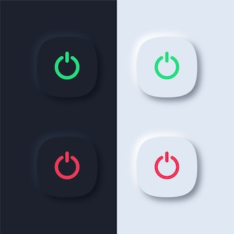Power buttons on black and white background