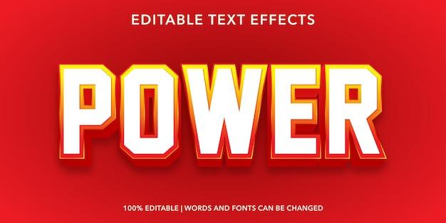 Power editable text effect