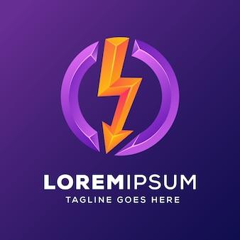 Power energy with arrow logo