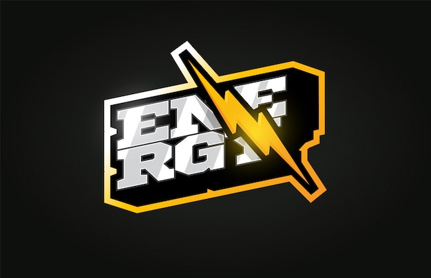 Power energy современный профессиональный спортивный логотип в стиле ретро