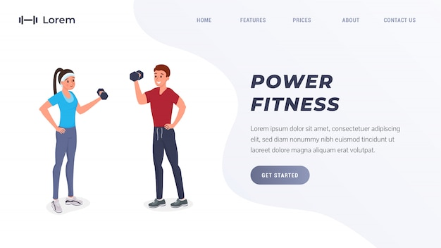 Целевая страница power fitness