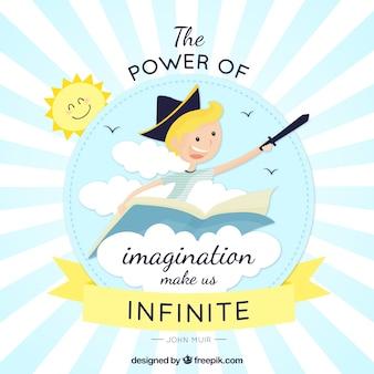Il potere dell'immaginazione Vettore gratuito