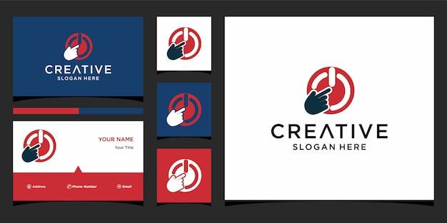 Power on of logo design