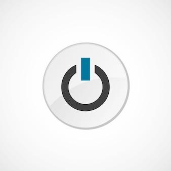 アイコン2の色、灰色と青、円のバッジの電源を入れます