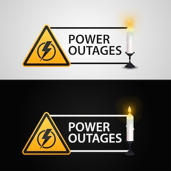 Power outages.