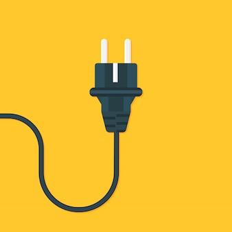 Power outlet flat. vector illustration
