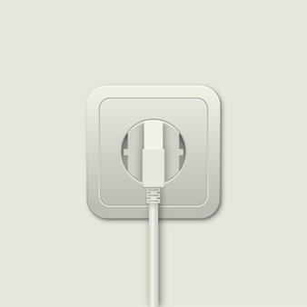 Power outlet and plug
