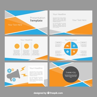 Powerpoint vectors photos and psd files free download power point template with abstract shapes toneelgroepblik Images