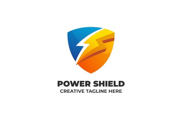 Power shield energy gradient logo business