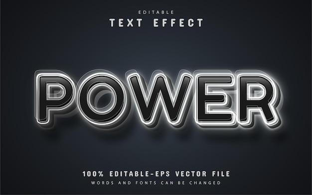 Power text, 3d editable text effect