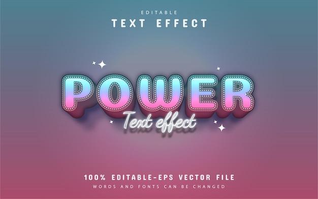 パワーテキスト-編集可能な3dグラデーションスタイルのテキスト効果